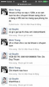 Tài khoản Facebook của Lệ Quyên bị hack lừa đảo vay tiền