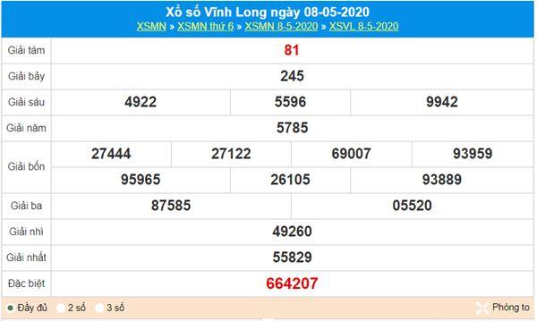 Soi cầu KQXS Vĩnh Long 15/5/2020, chốt cầu lô số đẹp
