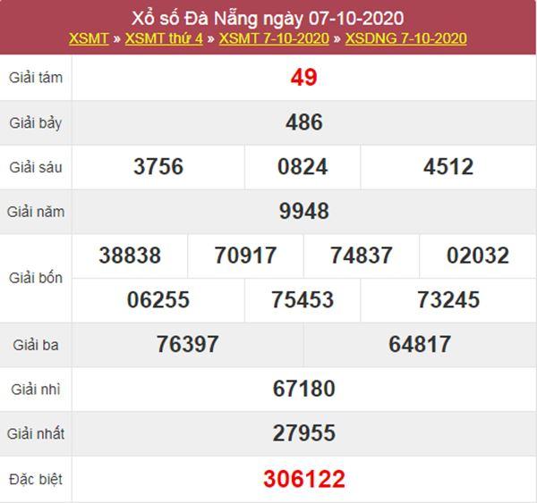 Soi cầu KQXS Đà Nẵng 10/10/2020 thứ 7 chính xác nhất