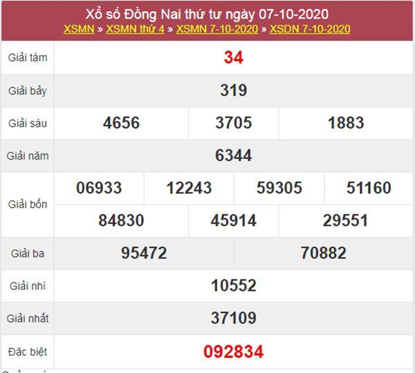 Soi cầu KQXS Đồng Nai 14/10/2020 thứ 4 chính xác nhất