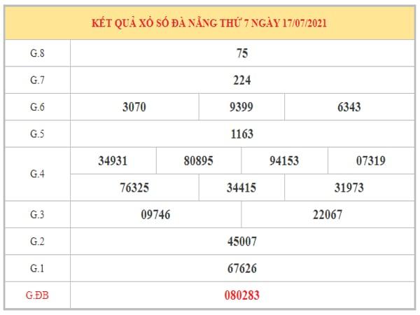 Nhận định KQXSDNG ngày 21/7/2021 dựa trên kết quả kì trước